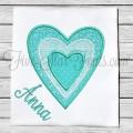 Sweet Three Heart Applique Design