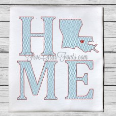 Home State LA Quick Stitch Designs Louisiana