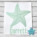 Starfish Bean Stitch Applique Design