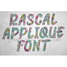 Rascal Applique Font Quick Bean Stitch