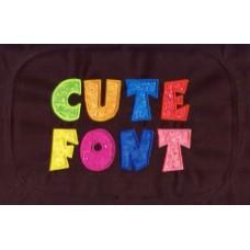 Cute Applique Font