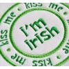 Kiss Me I'm Irish Circle Applique