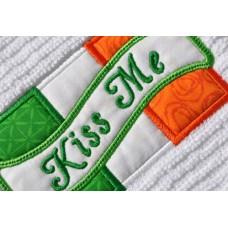 Kiss Me Irish Flag Applique