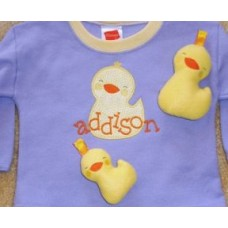 Sweet Duckie Snuggly and Matching Applique 7 sizes
