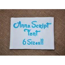 Anna Script Font