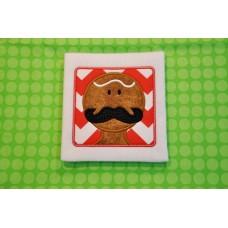Mustache Ginger Applique