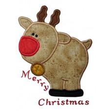 Plump Reindeer Applique