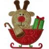 Reindeer Sleigh Applique