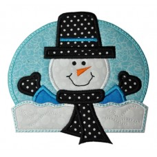 Happy Snowman Applique