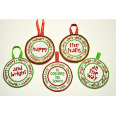 Christmas Rounds In the Hoop + Appliques