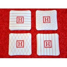 Monogram Coasters In the Hoop