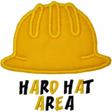 Hard Hat Construction Applique