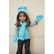 18 Inch Doll Hat Scarf Mittens In the Hoop for AG