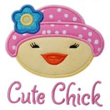 Easter Bonnet Chick Applique