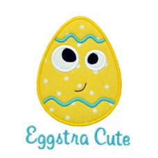 Silly Sweet Easter Egg Applique