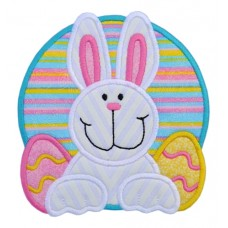 Easter Bunny Eggs Applique