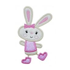 Happy Dance Bunny Girl Applique
