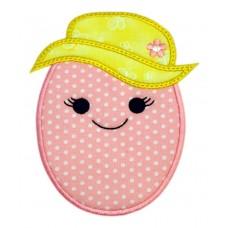 Easter Bonnet Egg Applique