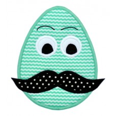 Mustache Easter Egg Applique