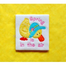 Spring is in the Air Duck Applique