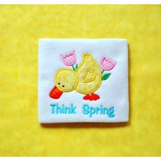 Think Spring Duck Applique