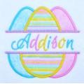 Split Easter Eggs Applique