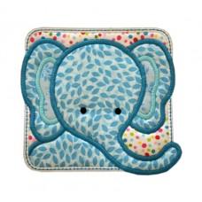 Elephant Block Applique