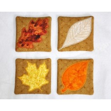 Leaf Coasters In the Hoop NO Sew