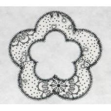 FREE Flower Applique Frame Design