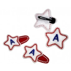 Fun Felts Star Monogram Barette Snap Clip Covers