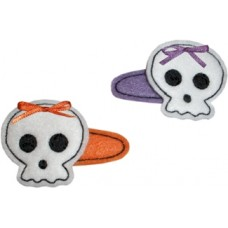 Fun Felts Sweet Skull Barette Snap Clip Covers