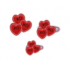 Fun Felts Trio of Hearts Snap Clip Covers