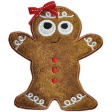 Silly Sweet Ginger Bread Applique