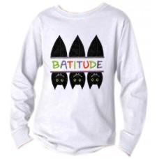 Split Trio of Bats Batitude Applique