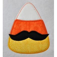 Candy Corn Mustache Applique