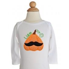 Mustache Pumpkin Applique