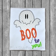 Boo to You Ghost Applique