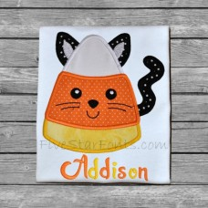 Candy Corn Kitty Cat Applique