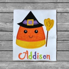 Candy Corn Witch Applique
