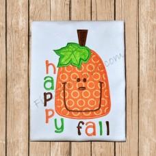 Happy Fall Pumpkin Applique