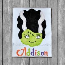 Adorable Mrs. Frankenstein Applique