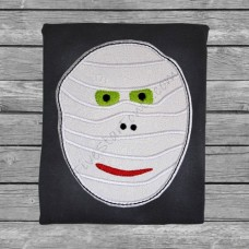 Spooky Mummy Face Applique