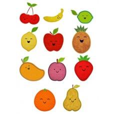 Happy Fruit Applique Design Set