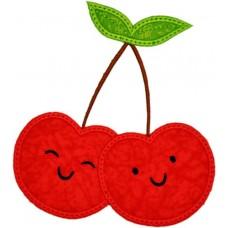 Happy Fruit Cherries Applique