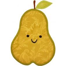 Happy Fruit Pear Applique