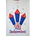 Miss independent Fireworks Applique