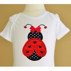 Hearts Ladybug Valentine Applique