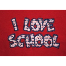 Exclusive I LOVE SCHOOL Double Applique