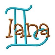Applique Monogram Font