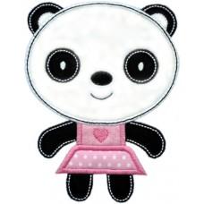 Sweet Panda Girl Applique